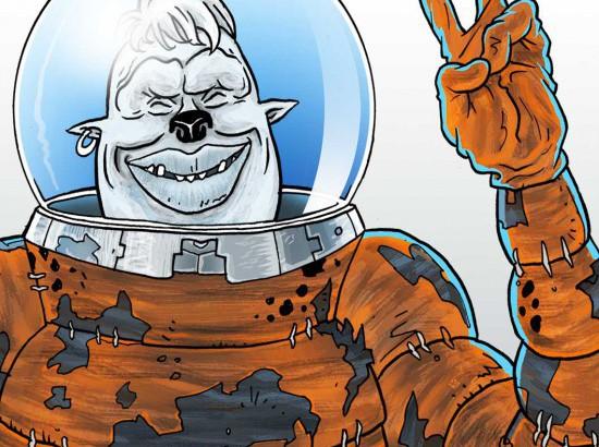 Tegneserie tegning illustrationRene Birkholm alias rebi Danmark Odense Fyn tegneren.dk