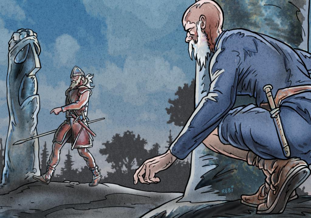 Vikinger, illustration af Rene Birkholm,