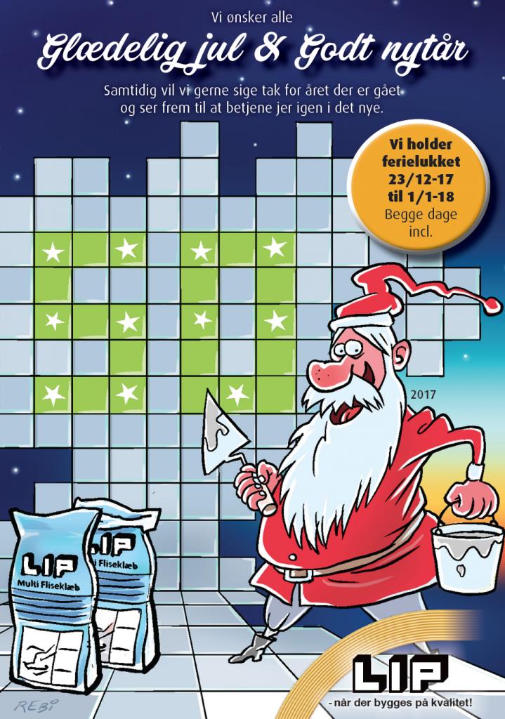 Firma julekort illustration af Rene Birkholm tegneren.dk