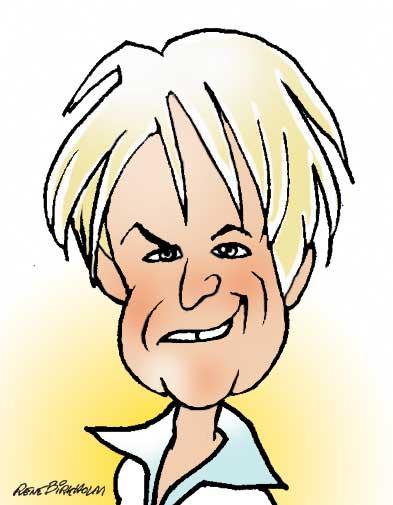 Karikaturtegning af politiker Lykke Friis. Illustration René Birkholm
