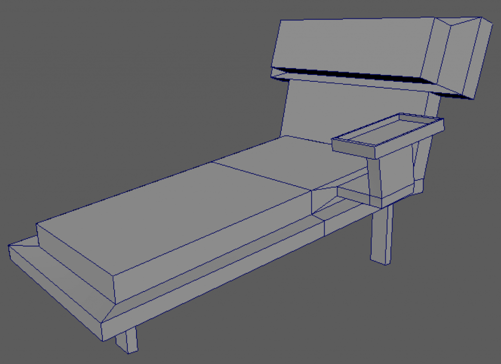 How to make a chair in Maya 2016.
