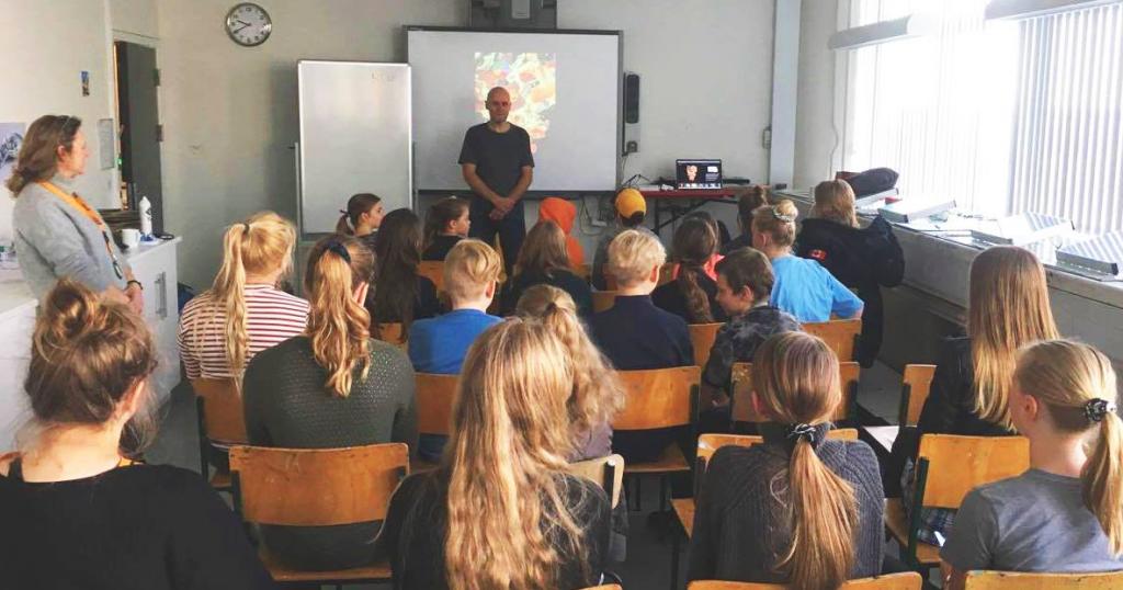 Rene Birkholm Tegneserie workshop undervisning med børn og unge