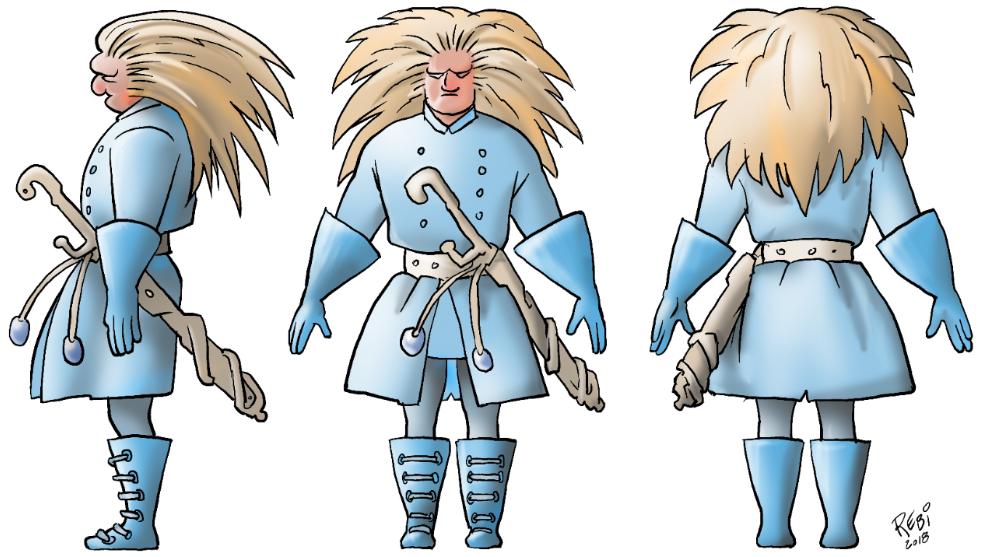 farvelægning Photoshop karakterdesign illustration Rene Birkholm alias rebi tegneren.dk danmark fyn odense