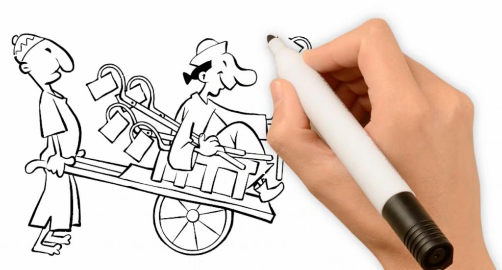 illustrationer af Rene Birkholm alias rebi til speed drawing animation Danmark Odense Fyn tegneren.dk