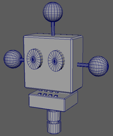3D robothoved Rene Birkholm alias rebi tegneren.dk danmark fyn Munkebo