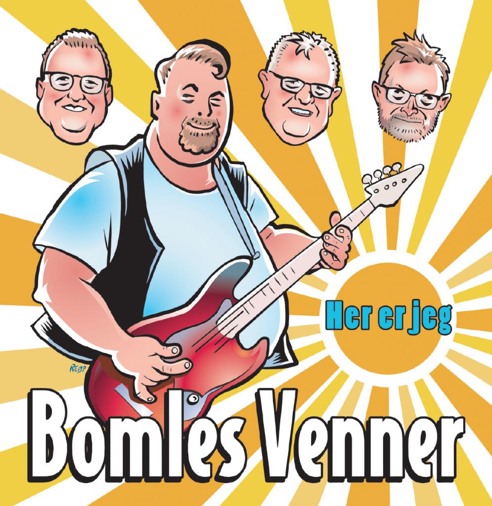 Bomles Venner karikaturtegning af Rene Birkholm alias rebi Danmark Odense Fyn tegneren.dk