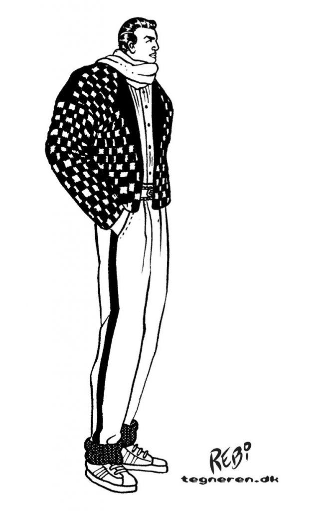 modedesign tøj tegning af Rene Birkholm alias rebi Danmark Odense Fyn tegneren.dk